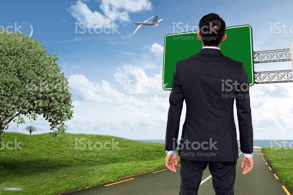 Composite image of asian businessman stock photo