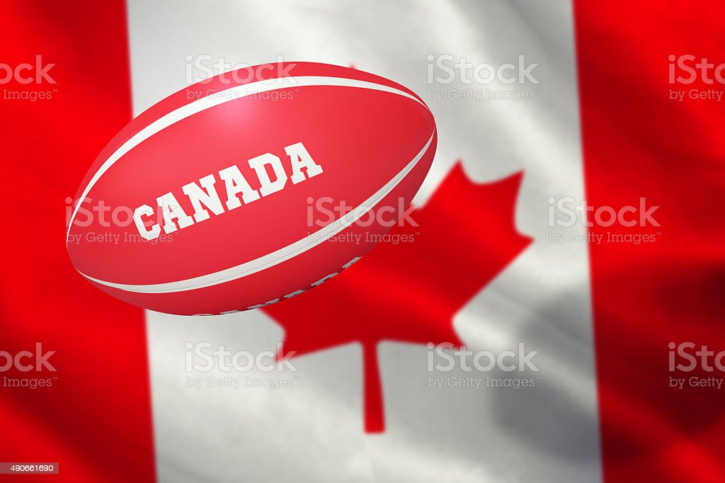 Composite image of canada rugby ball stock photo