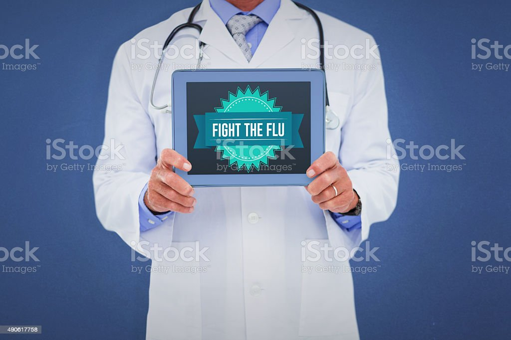 Composite image of flu message stock photo