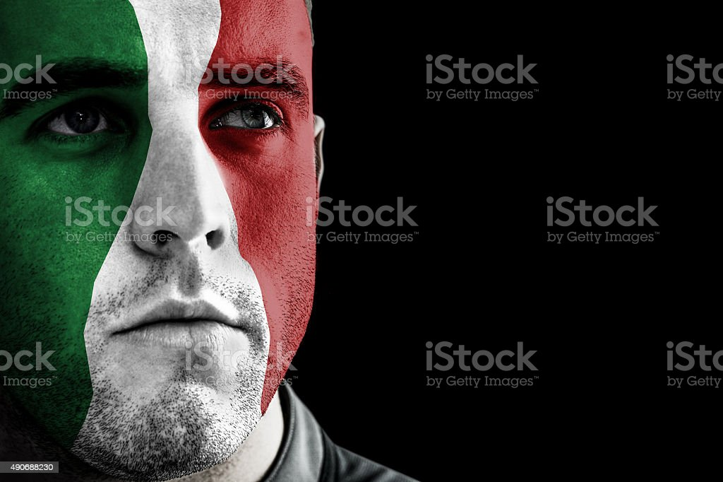 Composite image of italy rugby player stock photo
