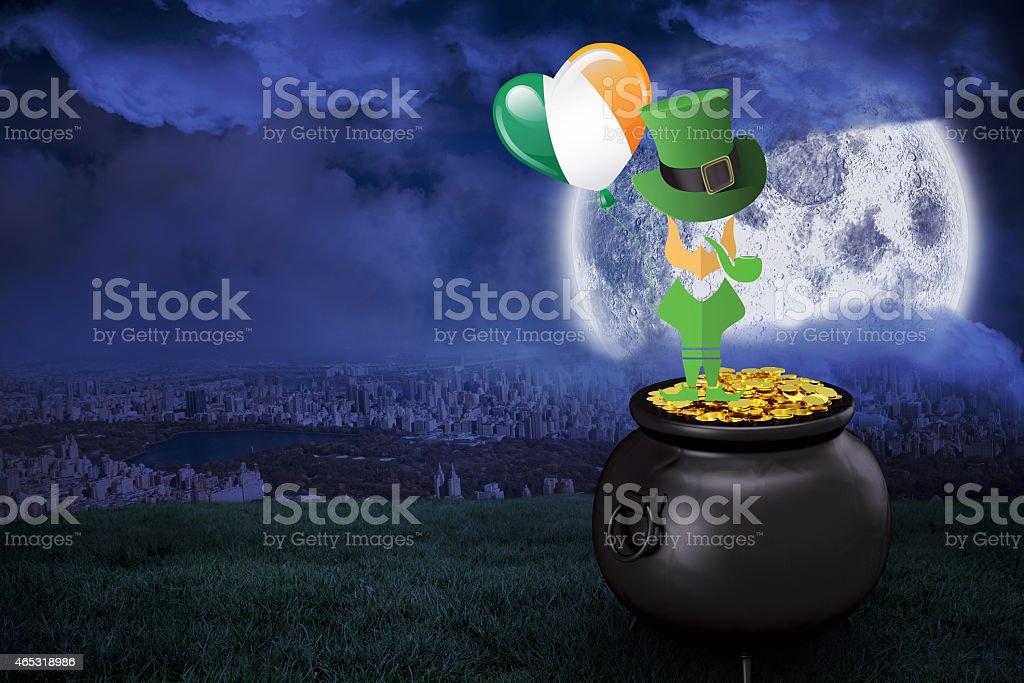 Composite image of leprechaun stock photo