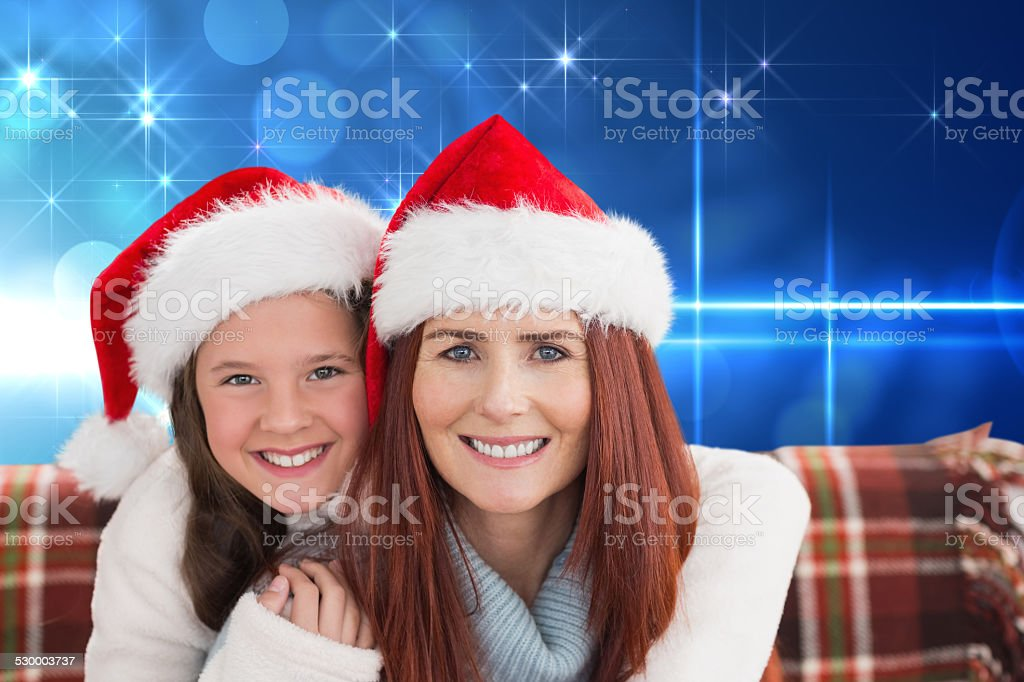 Composite image of mother and daughter stock photo