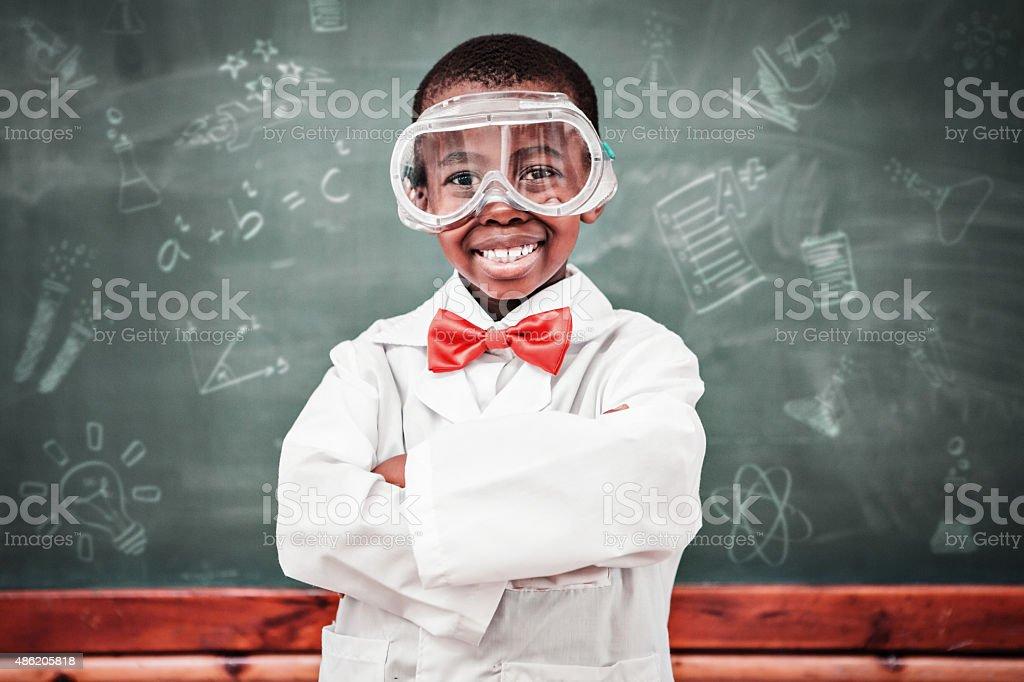 Composite image of school doodles stock photo
