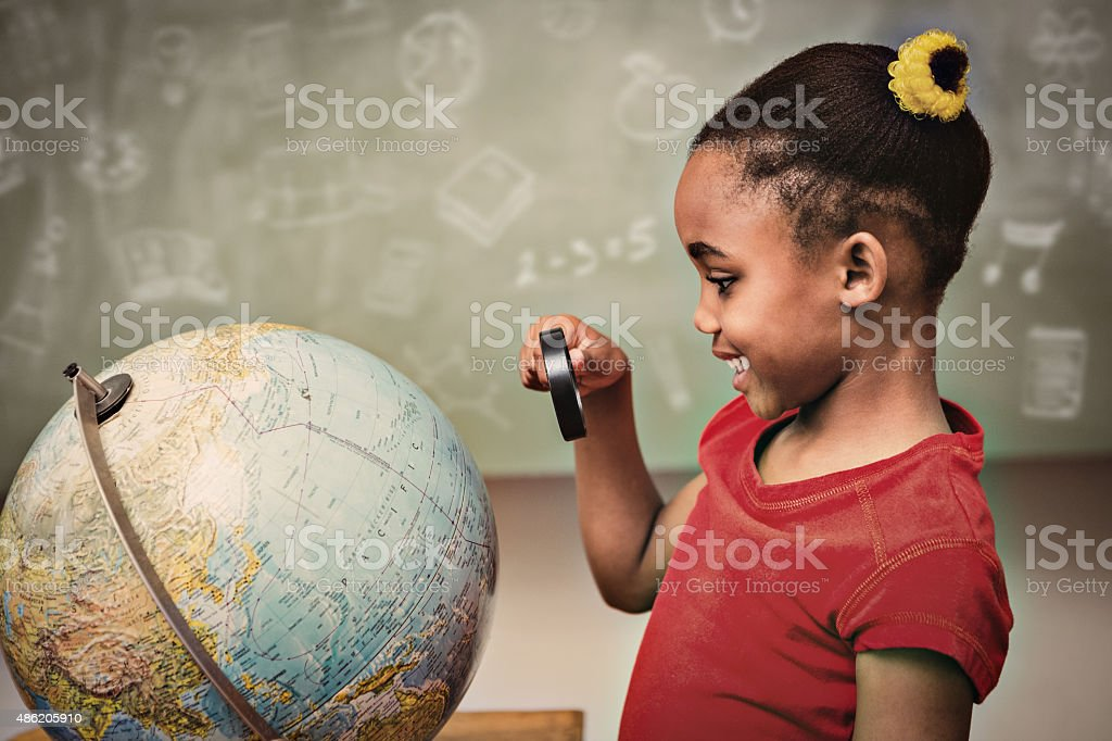 Composite image of school doodles stock photo