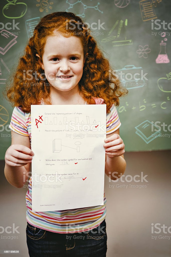 Composite image of school subjects doodles stock photo