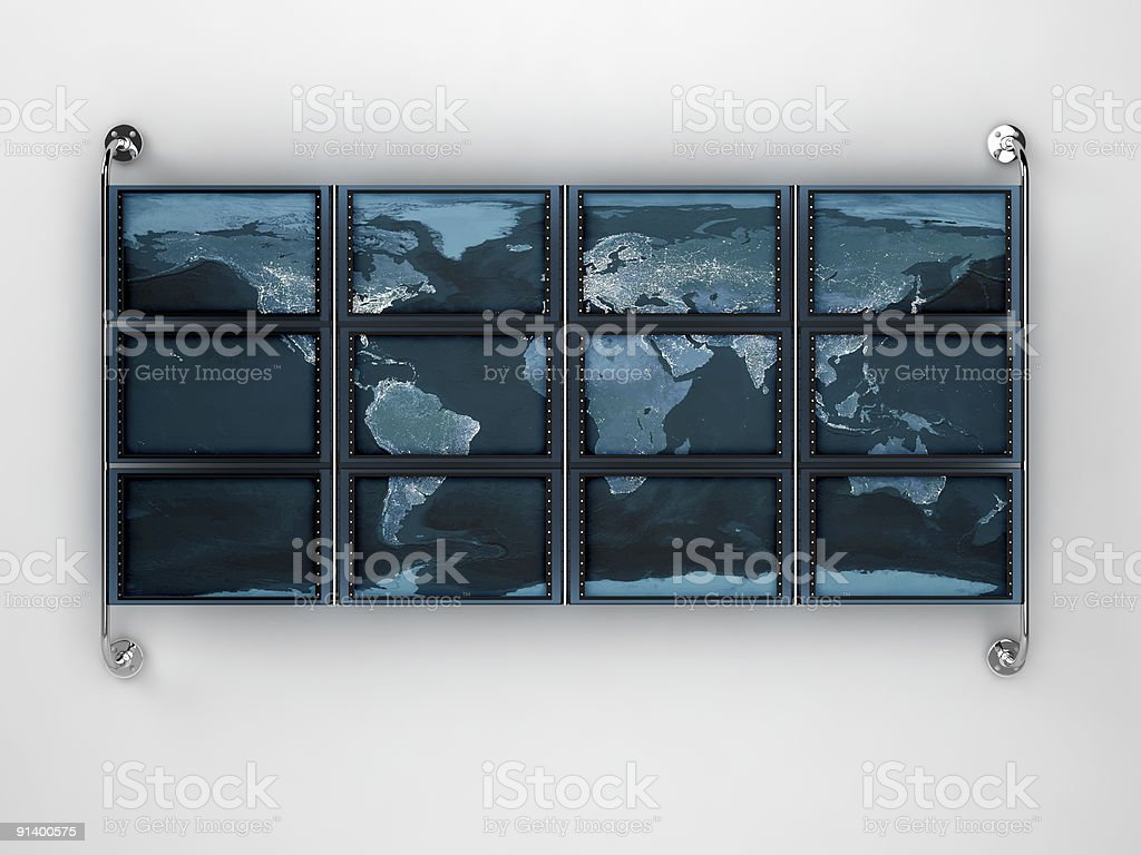 Composite LCD monitor royalty-free stock photo