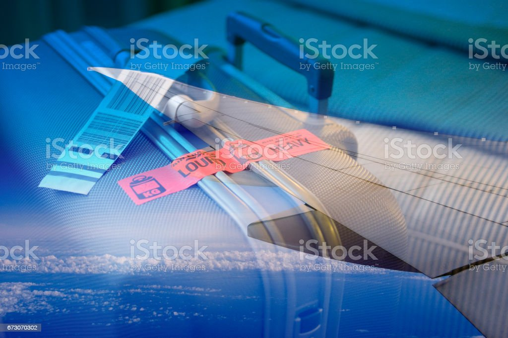 Composite planes with plane composite suitcase suitcase stock photo