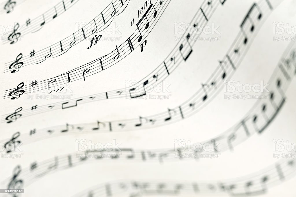 Composition Background – Treble Clef royalty-free stock photo