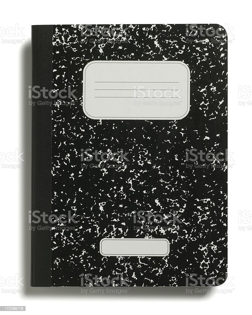 Composition Book royalty-free stock photo