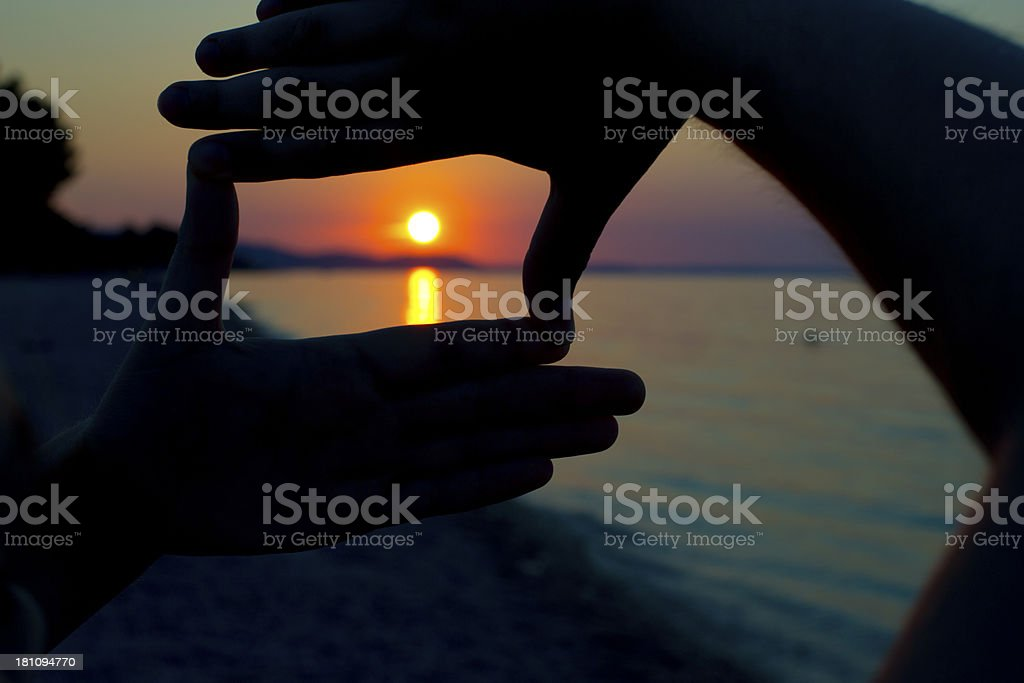 Composition frame royalty-free stock photo