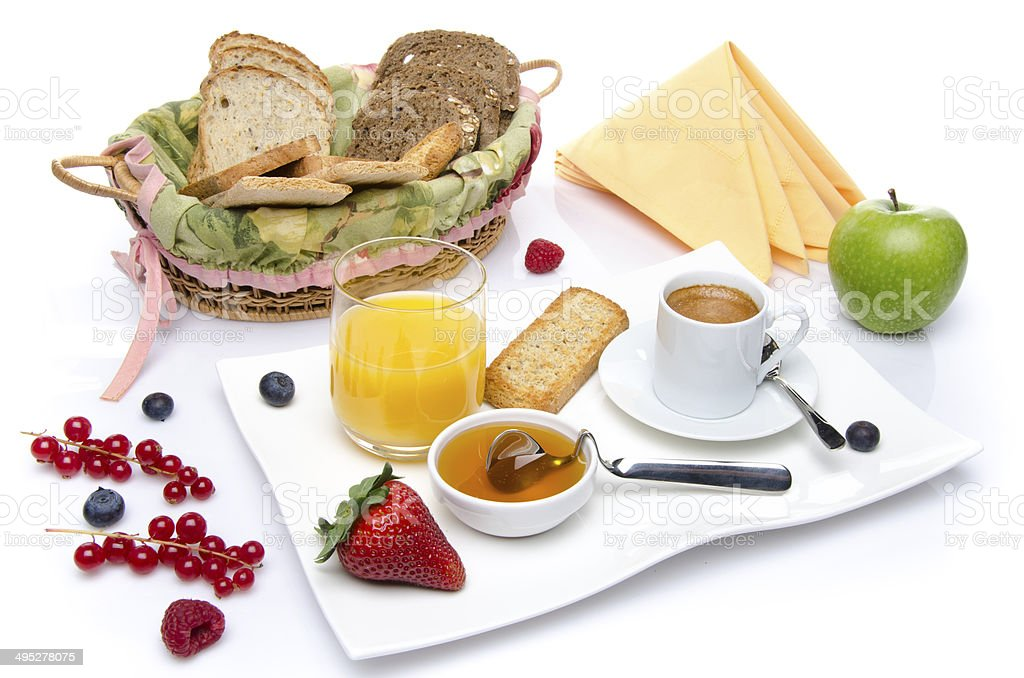 Composition of a breakfast stock photo