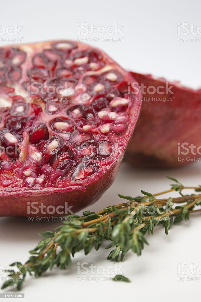 Composition of a pomegranate royalty-free stock photo