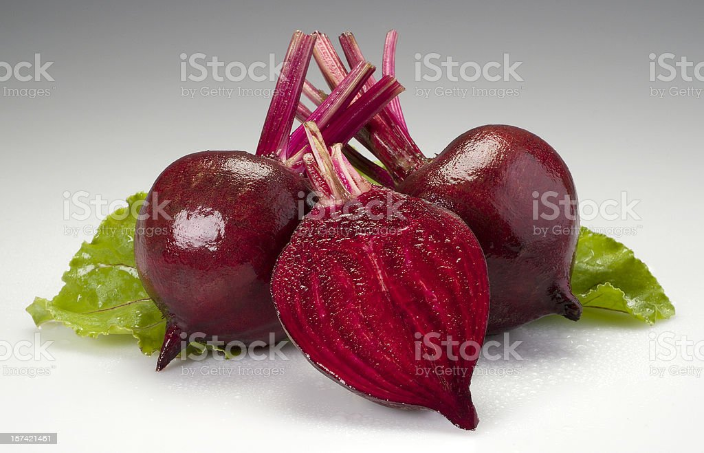 Composition of boiled beetroots royalty-free stock photo