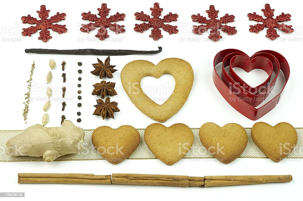 Composition of cookies and spices royalty-free stock photo
