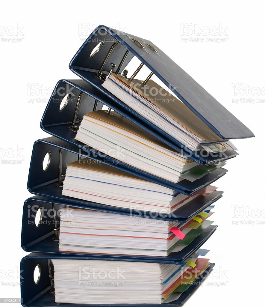Composition of documents royalty-free stock photo