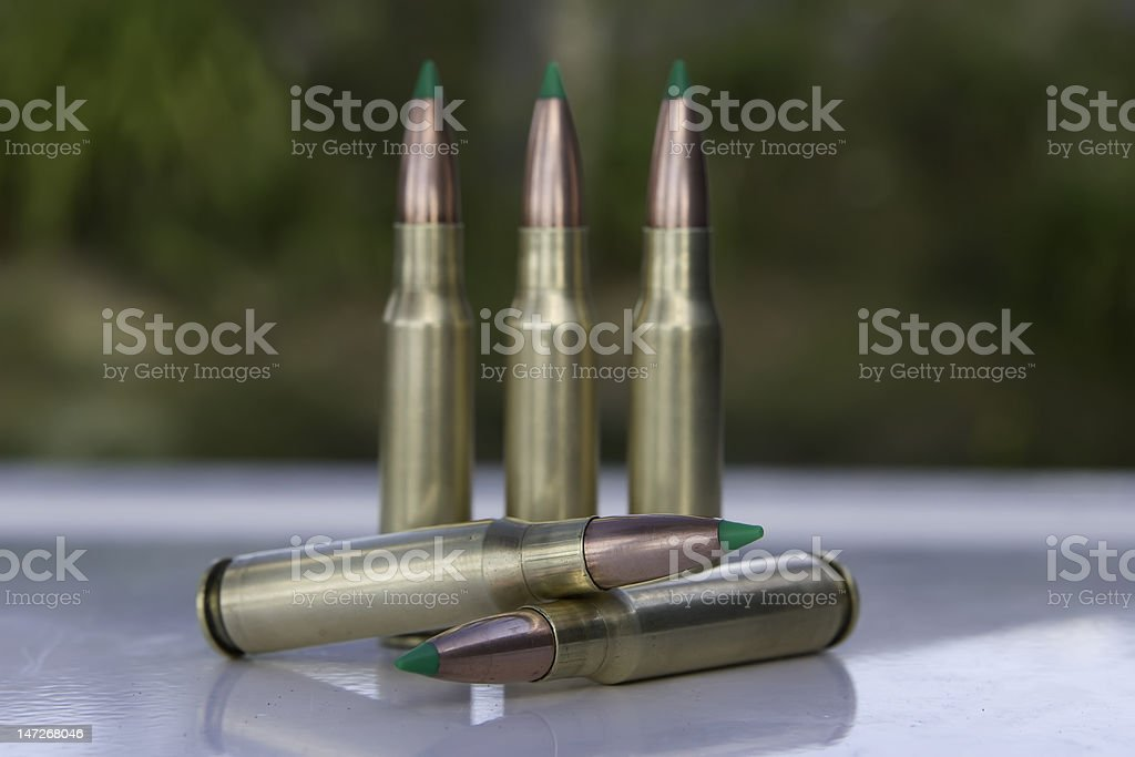 Composition of five bullets royalty-free stock photo
