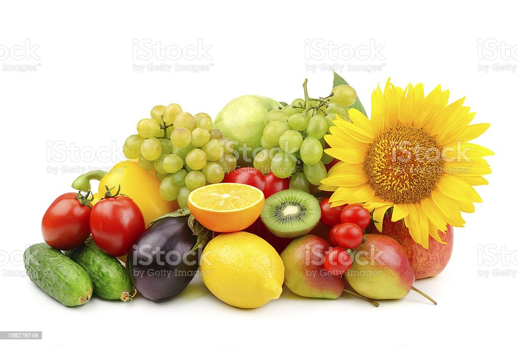 composition of fruits and vegetables royalty-free stock photo