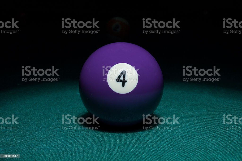 composition of pool balls stock photo