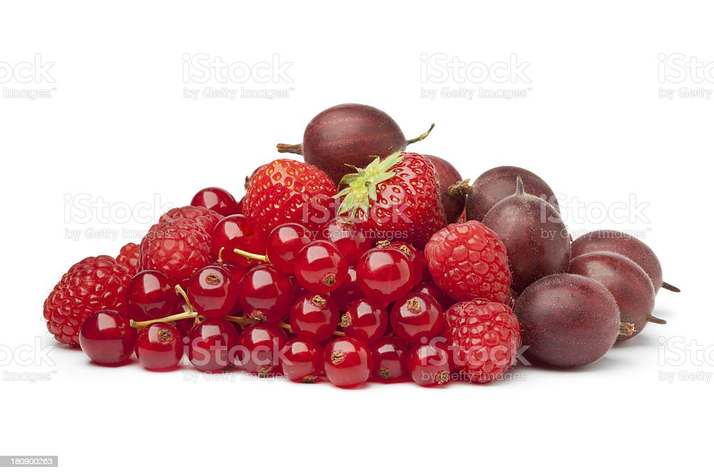 Composition of red berries royalty-free stock photo