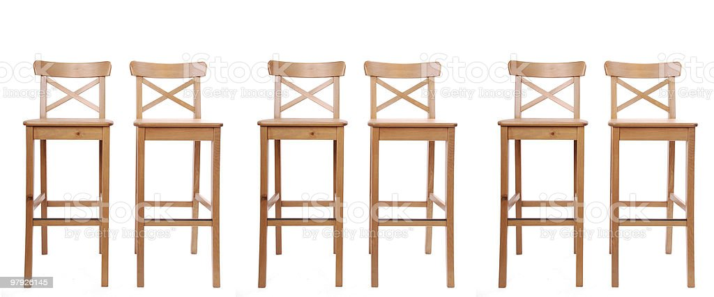 Composition of stools in a row royalty-free stock photo