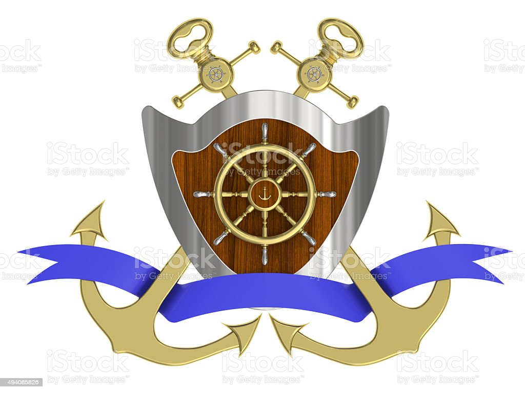 Composition of the marine theme stock photo