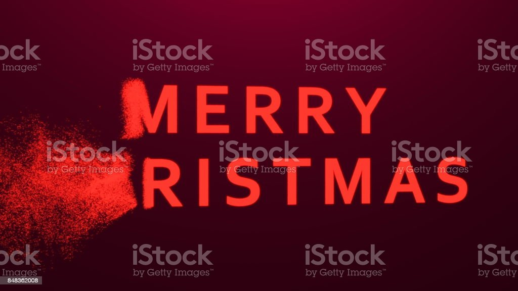 Composition of the Merry Christmas of particles stock photo