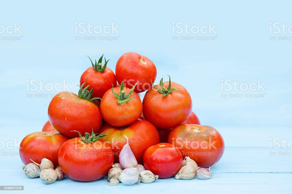 Composition of tomato. stock photo