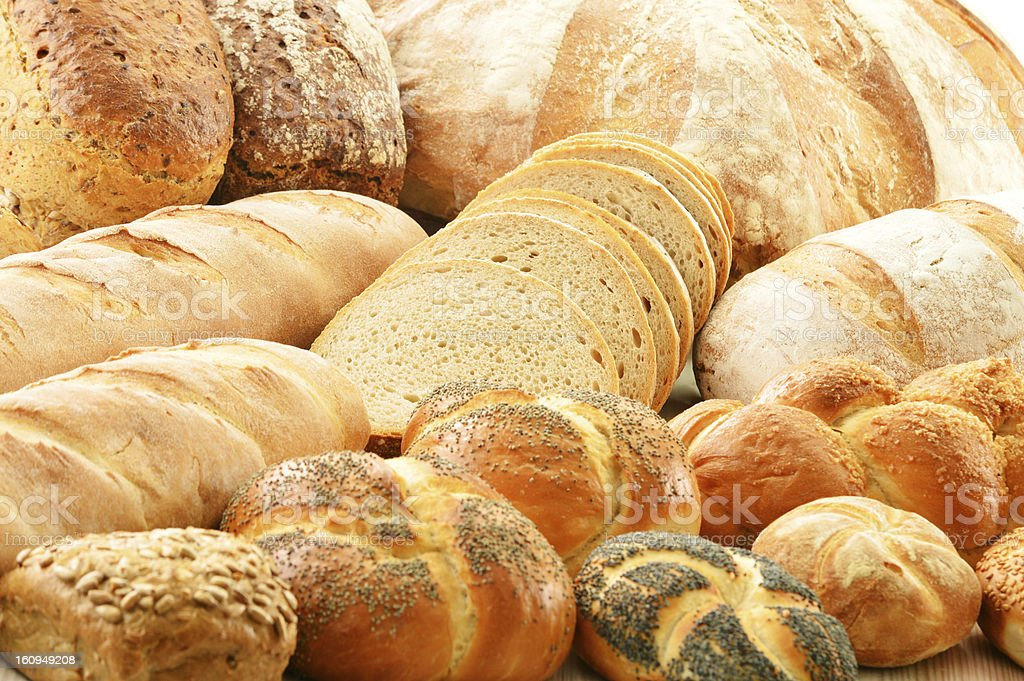 Composition with baking products royalty-free stock photo