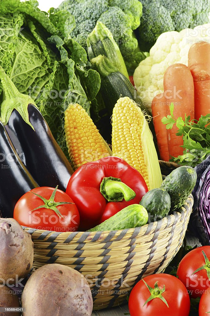 Composition with raw vegetables royalty-free stock photo