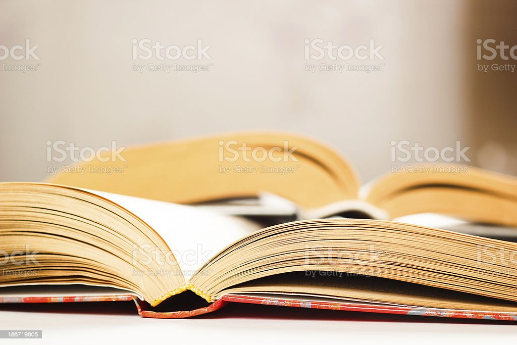 Composition with stack of books royalty-free stock photo