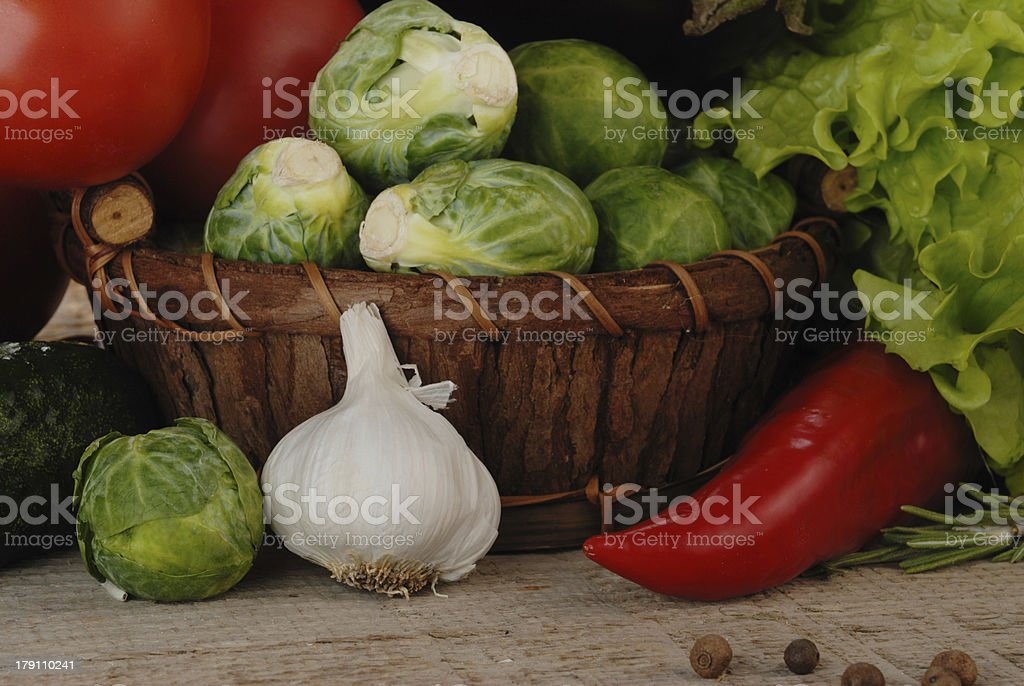 Composition with vegetables royalty-free stock photo
