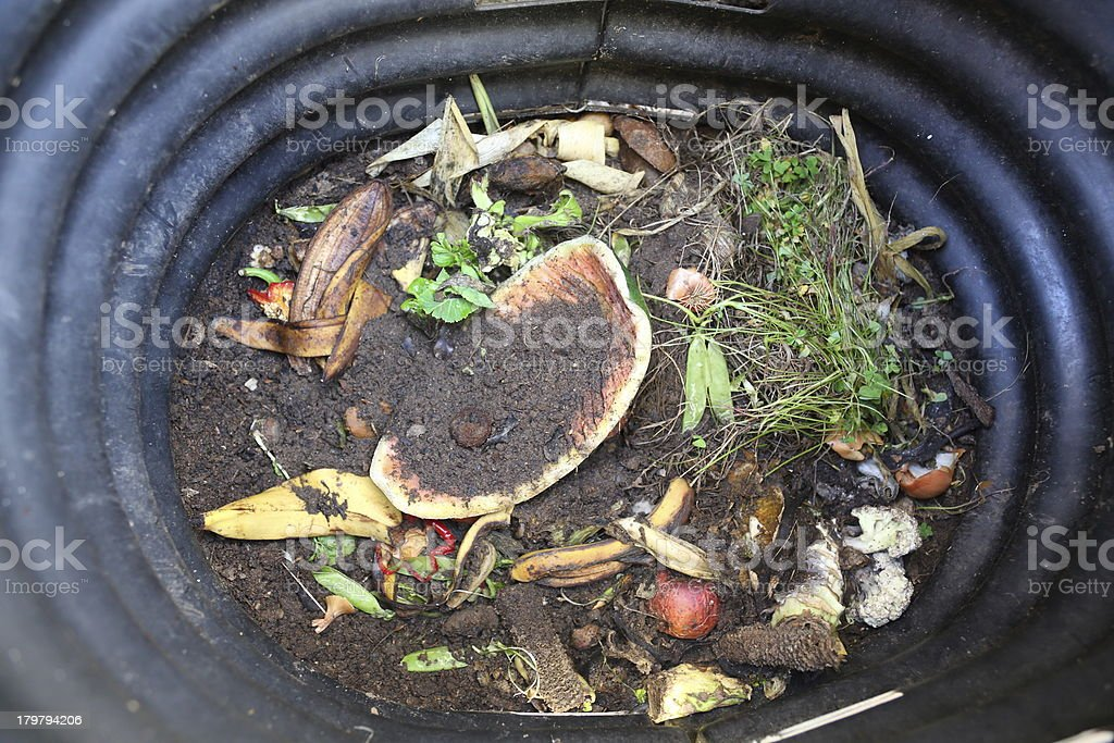 Compost Bin royalty-free stock photo