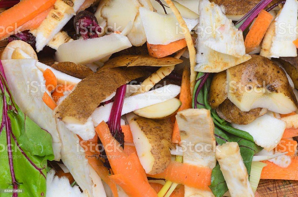 compost vegetables peelings stock photo