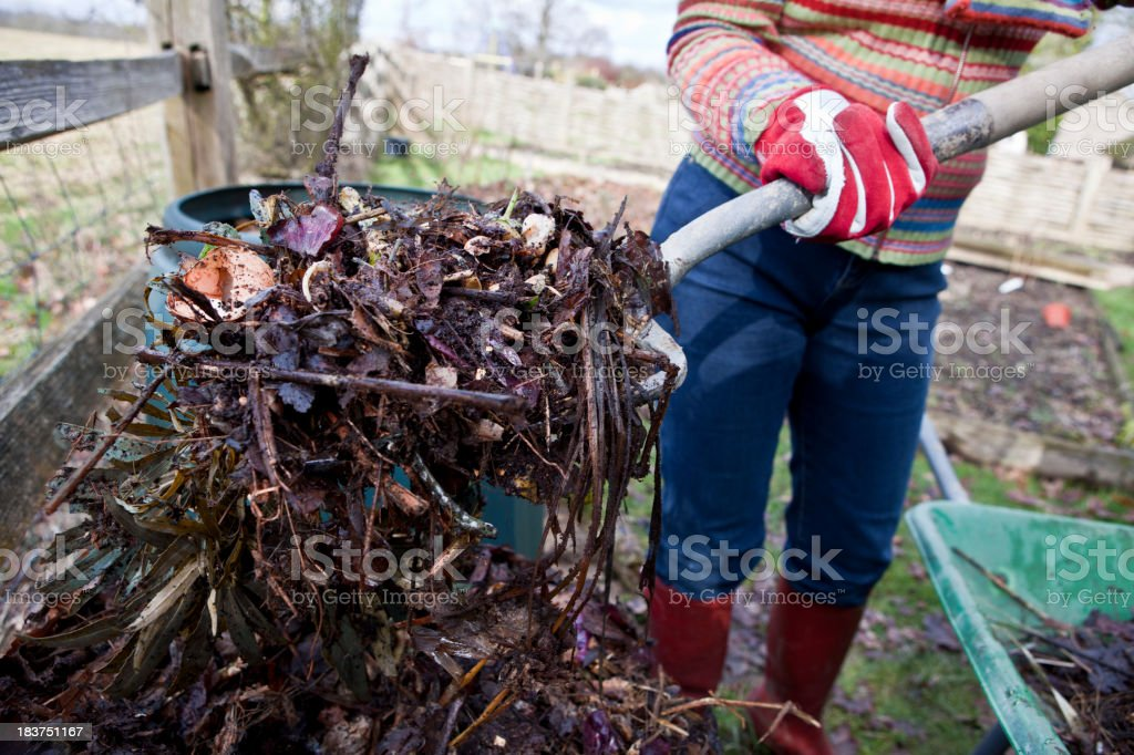 Composting Garden and Food Waste royalty-free stock photo