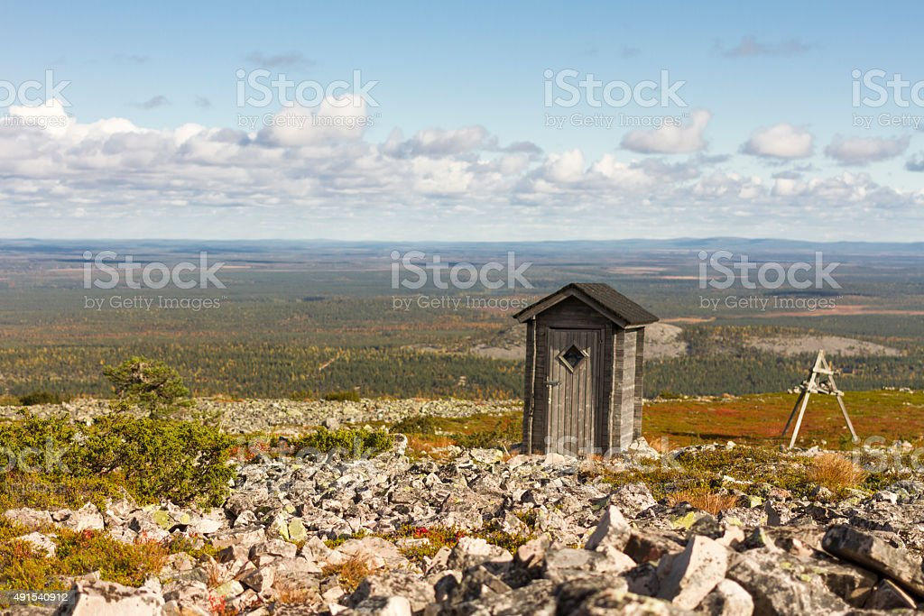 Composting Toilet with a View stock photo