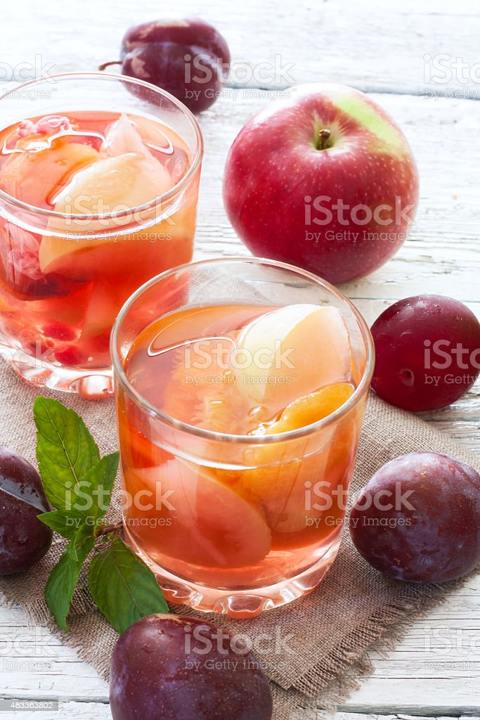 Fruit compote stock photo