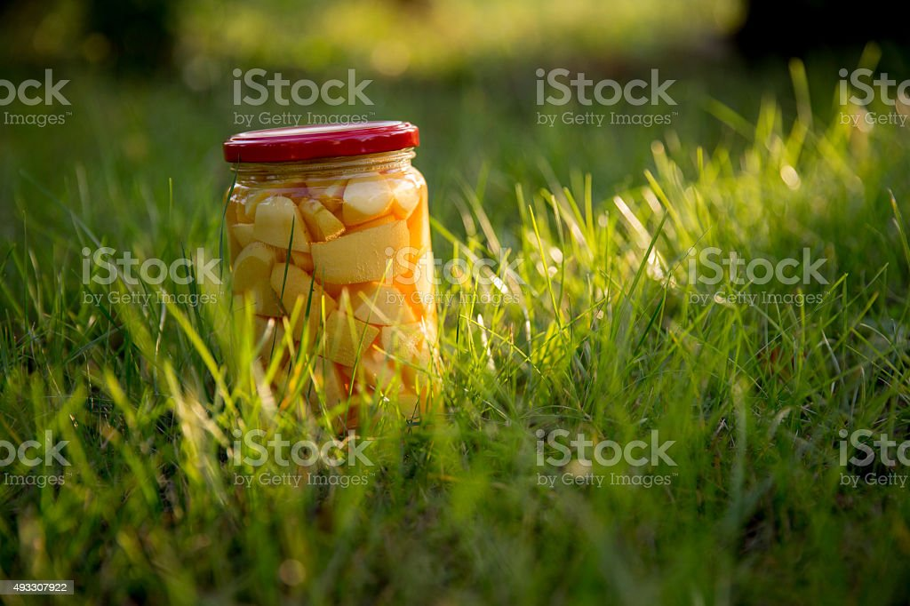 Compote jar stock photo