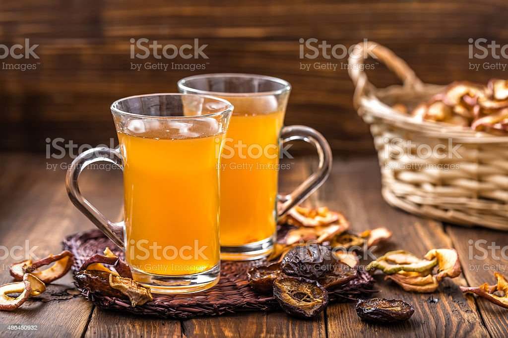 compote of dried fruits stock photo