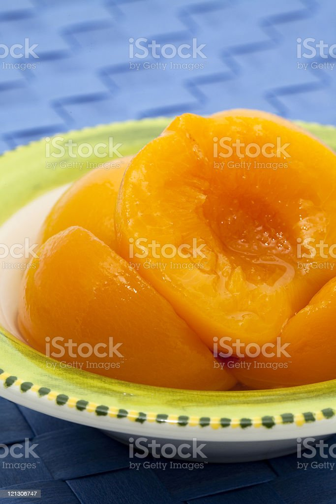 compote of peaches royalty-free stock photo