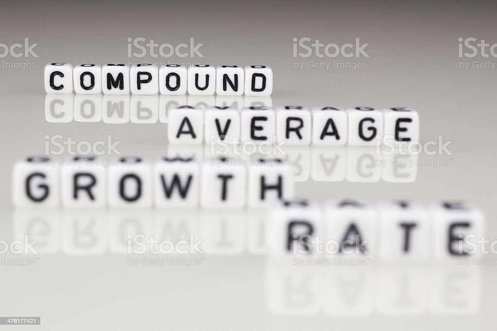 Compound Average Growth Rate royalty-free stock photo