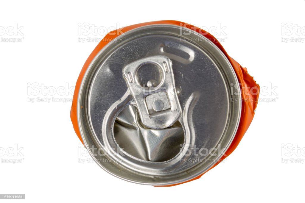 Compressed can top isolated stock photo