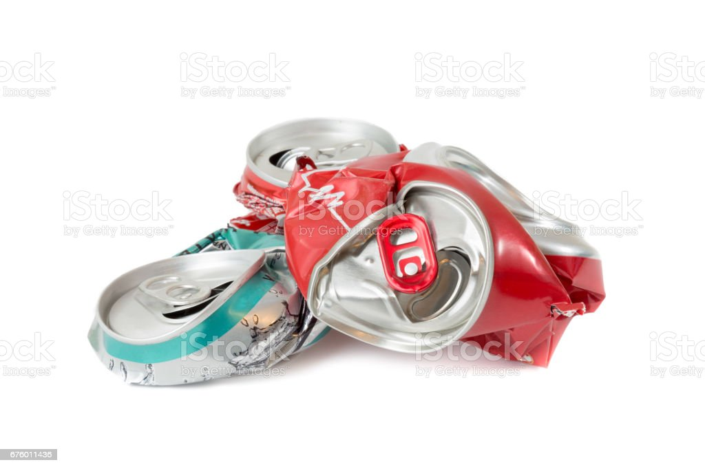 compressed cans isolated stock photo