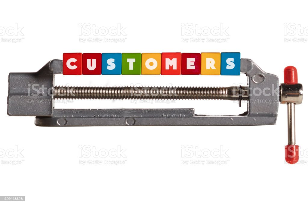 Compressed Customers concept stock photo