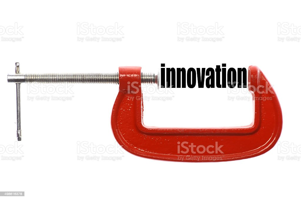 Compressed innovation concept stock photo