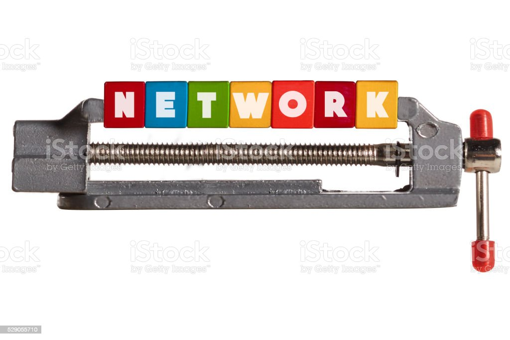 Compressed Network concept stock photo