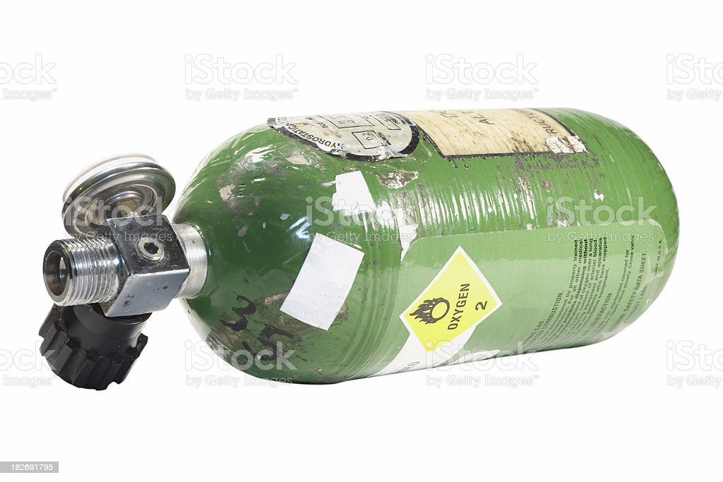 Compressed Oxygen Bottle royalty-free stock photo