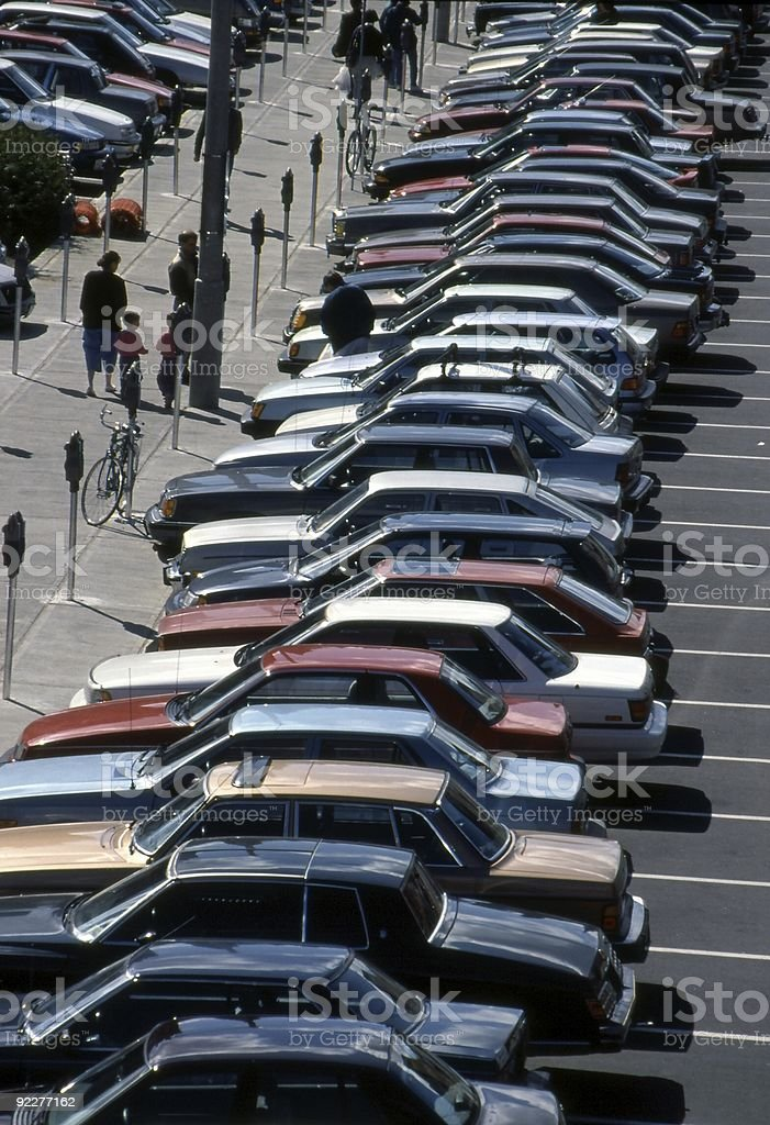 Compressed Parking royalty-free stock photo