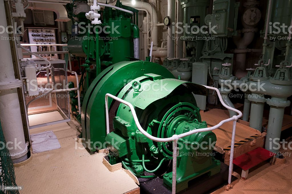 Compressor for cypplying compressed air stock photo