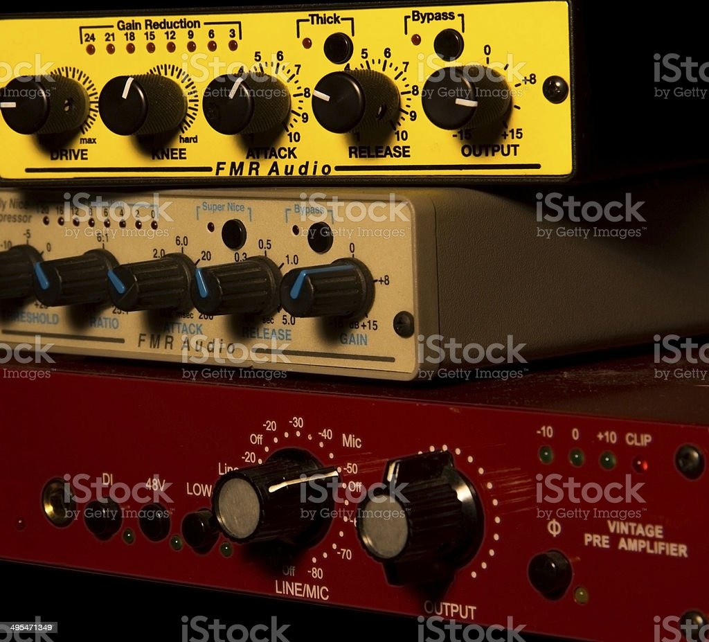 Compressor Knobs stock photo