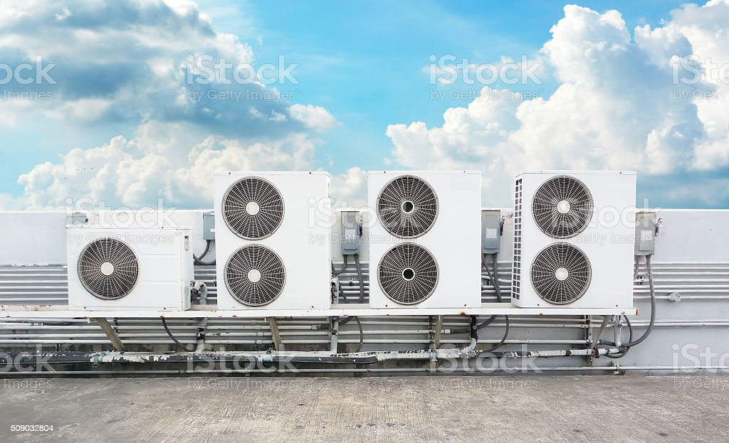 compressor of air condition stock photo